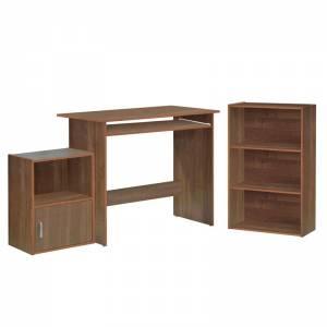 Set Γραφείο Κερασί : Γραφείο 90x50x75cm Βιβλιοθήκη 50x23x80cm Ντουλάπι 41x29x54cm
