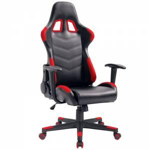 Gaming Πολυθρόνα Διευθ/ντή Pvc Μαύρο/Κόκκινο