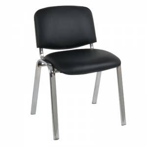 Καρέκλα Χρώμιο/PVC Μαύρο