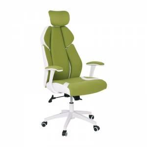Πολυθρόνα Διευθ.Πράσινο Microfiber/Άσπρο Pu