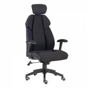 Πολυθρόνα Γραφείου Διευθυντή Microfiber Μαύρο / PU Μαύρο