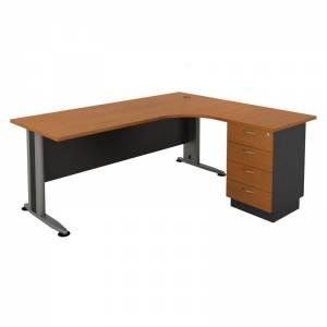 Γραφείο -Δεξ-180x70/150x60cm DG/Cherry