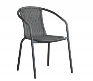Πολυθρόνα Μεταλ.Γκρι/Mixed Grey Wicker