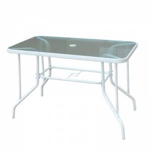 Τραπέζι Κήπου Βεράντας - Μέταλλο Βαφή Άσπρο