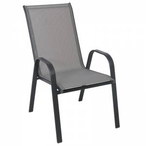 Πολυθρόνα Μεταλλική Ανθρακί/Textilene Γκρι