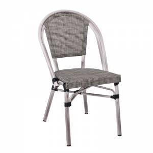 Καρέκλα Dining Αλουμινίου Απόχρωση Antique Grey -Textilene Μπεζ
