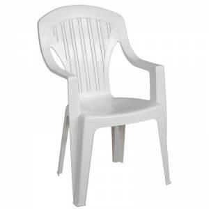 Πολυθρόνα Στοιβαζόμενη Πλαστική Άσπρη