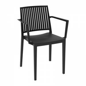 Πολυθρόνα Στοιβαζόμενη PP-UV Μαύρο