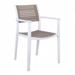 Πολυθρόνα PP-UV Άσπρο - Sand Beige
