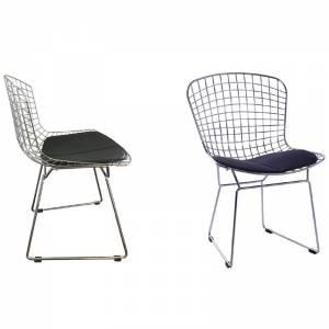 Καρέκλα Mesh Χρώμιο Μαξ.Μαύρο Pu (Εσωτ.Χώρου)