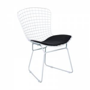 Καρέκλα Μεταλ.Mesh Άσπρη Μαξ.Μαύρο Pu