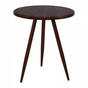 Steel Τραπέζι Φ60cm Καρυδί