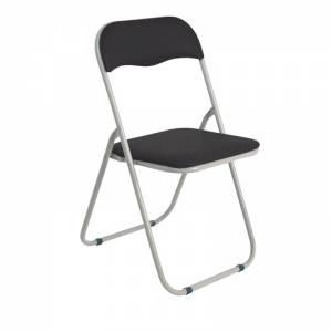 Καρέκλα Πτυσ/νη Pvc Μαύρο (Βαφή Γκρι)
