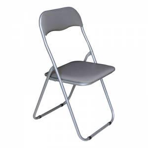 Καρέκλα Πτυσ/νη Pvc Γκρι (Βαφή Γκρι)