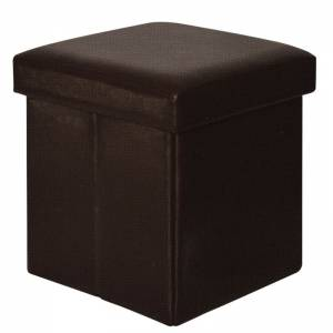 Σκαμπώ Αποθηκευτικό - Βοηθητικό / PU Σκούρο Καφέ