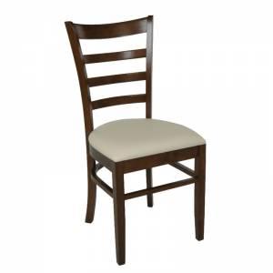 Καρέκλα Καρυδί/Pu Εκρού