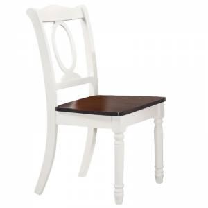 Καρέκλα Άσπρη/Καρυδί