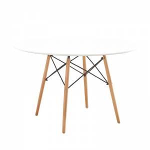 Τραπέζι Φ120/H75cm Άσπρο