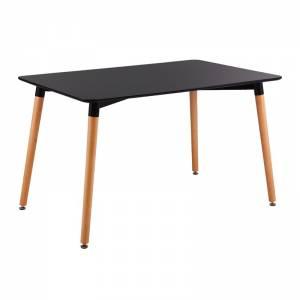 Τραπέζι 120x80cm Μαύρο
