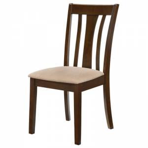 Καρέκλα Σκούρο Καρυδί / Ύφασμα Μπεζ