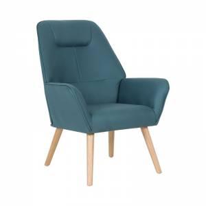 Πολυθρόνα Ύφασμα Nabuk Μπλε K/D