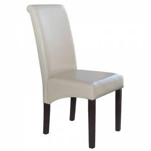 Καρέκλα Ξύλο / PU Ivory