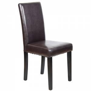 Καρέκλα PU Καφέ / Wenge