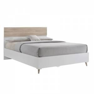 Κρεβάτι (για στρώμα 150x200) Sonoma/Άσπρο