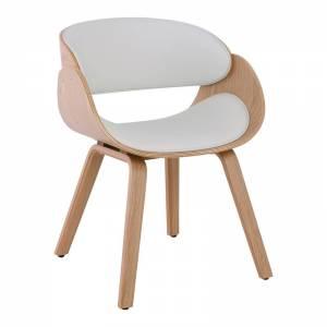 Πολυθρόνα Φυσικό/Pu Άσπρο