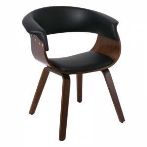 Πολυθρόνα Καρυδί/Pu Μαύρο