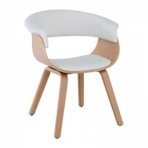 Πολυθρόνα Φυσικό - Pu Άσπρο