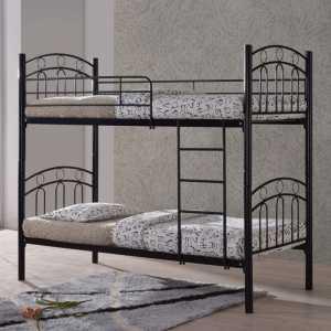 Κρεβάτι/Κουκέτα 90x200cm Mεταλ.Μαύρο