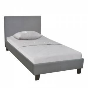 Κρεβάτι Μονό Ύφασμα Γκρι
