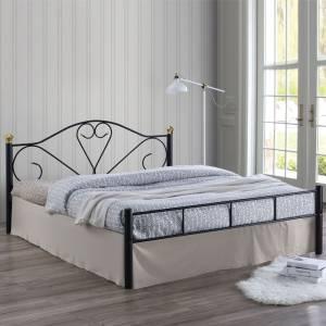 Κρεβάτι (για στρώμα 150x200cm) Μεταλ.Σφυρήλατο Μαύρο