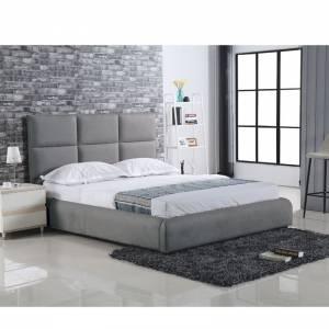 Κρεβάτι (για στρώμα 160x200cm) Ύφασμα Γκρι