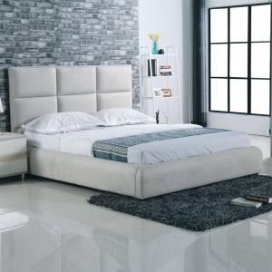 Κρεβάτι Διπλό για Στρώμα 160x200cm - Ύφασμα Grey Stone