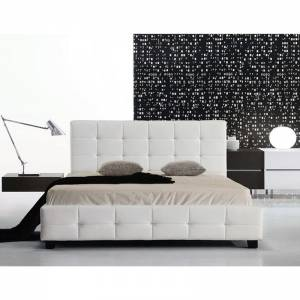 Κρεβάτι (για στρώμα 150x200cm) Pu Άσπρο