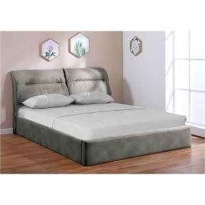 Κρεβάτι Διπλό Αποθηκευτικός Χώρος / Ύφασμα Nabuk Σκούρο Γκρι