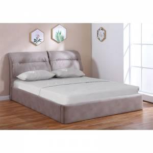 Κρεβάτι Διπλό Αποθηκευτικός Χώρος / Ύφασμα Nabuk Cappuccino