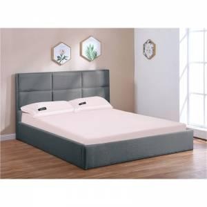 Κρεβάτι (για στρώμα 160x200cm) Ύφασμα Ανθρακί/Αποθ.Χώρος