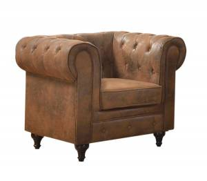 Πολυθρόνα Σαλονιού - Καθιστικού  Ύφασμα Καφέ Camel