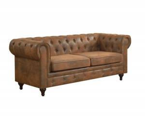 CHESTERFIELD Καναπές 3θέσ.Ύφασμα Καφέ Camel