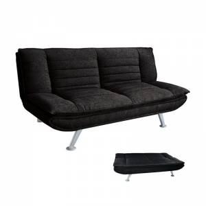 Καναπές - Κρεβάτι Σαλονιού - Καθιστικού Ύφασμα Μαύρο