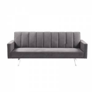 Καναπές - Κρεβάτι Σαλονιού Καθιστικού - Ύφασμα Ανοιχτό Γκρι