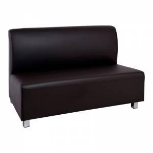 Καναπές 2-θέσιος Pu Καφέ