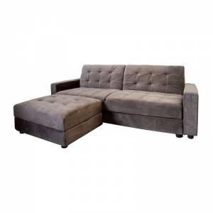 Καναπές Αναστρέψιμη Γωνία- Κρεβάτι- Αποθηκευτικός Χώρος / Ύφασμα Grey Brown