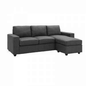 Καναπές Σαλονιού - Καθιστικού Γωνία Αναστρέψιμος / Ύφασμα Σκούρο Γκρι