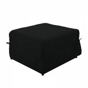 Σκαμπώ-Κρεβάτι Ύφασμα Μαύρο