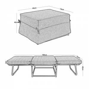 Σκαμπώ-Κρεβάτι Ύφασμα Εκρού