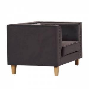 Πολυθρόνα Σαλονιού - Καθιστικού / Ύφασμα Σκ.Καφέ Velure
